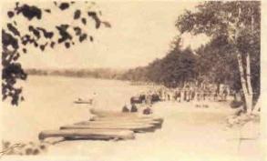 Canoes at Bear Pond Park Shoreline