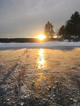lake view frozen